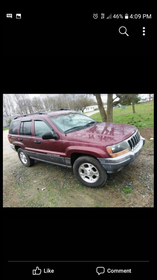Looking to trade a grand jeep cherokee loredo