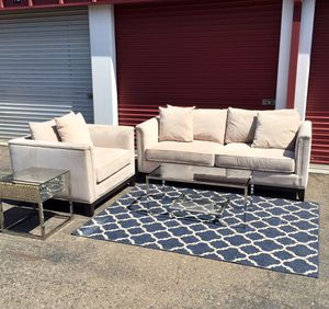 Z Gallerie Microfiber Sofa & chair set with coffee table retail $2300 for Sale in San Diego, CA