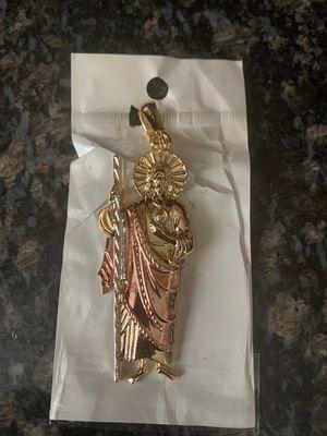 Laminated gold San Judas chain charm for Sale in Rialto, CA