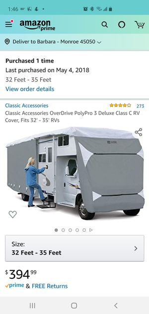 Class C Motorhome cover - NEW for Sale in Bowling Green, FL