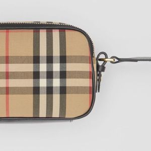 Burberry Mini Vintage Check And Leather Camera Bag for Sale in Boston, MA