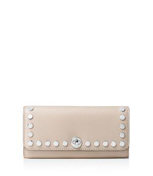 Michael Kors Rivington Stud Leather Wallet (Beige) for Sale in Virginia Beach, VA
