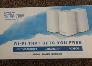 Linksys Velop Whole Home Mesh WiFi System 4,500 sq for Coverage! for Sale in Farmington Hills, MI