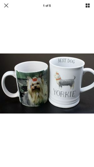Set of Two Yorkshire Terrier Yorkie Coffee Mugs! 2 RARE for Sale in Goodyear, AZ