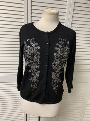 Black beaded button-down cardigan for Sale in PA, US