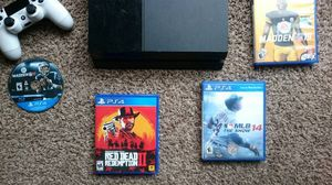 PS4 great condition with 4 games and 2 controllers read description for Sale in New London, MO