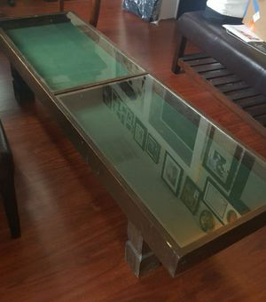 Coffee table antique glass top for Sale in Seagoville, TX