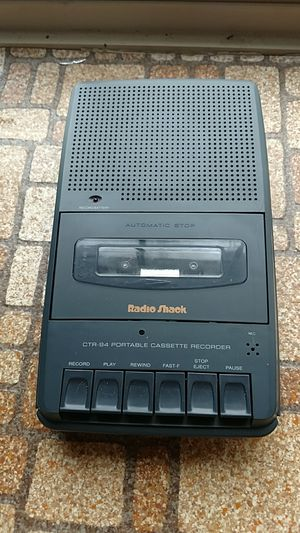 Radio shack cassette recorder for Sale in Appomattox, VA