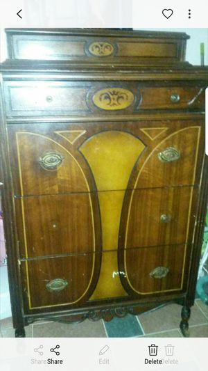 Beautiful solid cherry wood antique chest for Sale in Silver Spring, MD