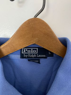 Men's Ralph Lauren Polo shirt. Size: L, Color: Sky Blue, Design: Long Sleeve for Sale in Washington, DC