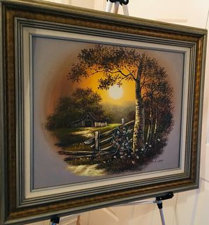 Beautiful Landscape original oil painting by L. LRRY; H28xW31 inch for Sale in Chandler, AZ