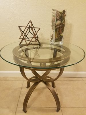 Glass top side table for Sale in Seminole, FL