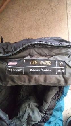 Coleman big basin sleeping bag 0 degree for Sale in Apple Valley,  CA