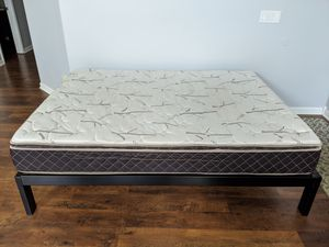 Queen size bed frame and mattress for Sale in Bakersfield, CA