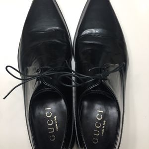 Gucci Black Leather Derby Dress Shoes Made In Italy 8.5D for Sale in Palm Springs, CA