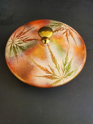 Covered Copper Bowl Artist Signed for Sale in Midland, MI
