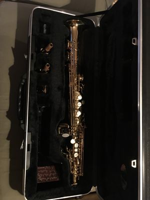 Antigua Soprano Saxophone w/ 2 Necks and Mounthpiece for Sale in Denver, CO