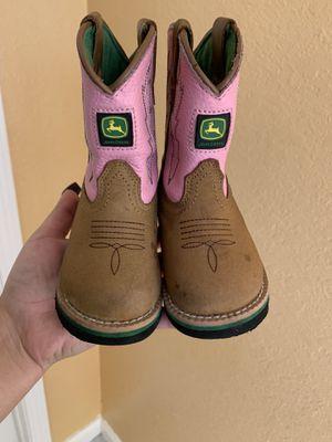 John deer girl toddler boots for Sale in Salinas, CA