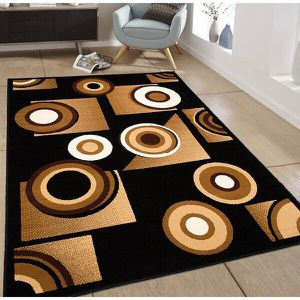 Brand new area rug black and brown colors brand new for Sale in Salem, OR