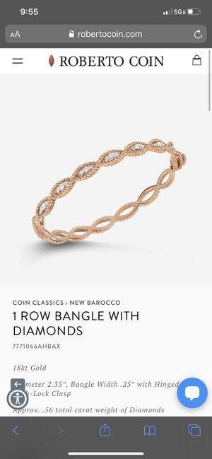 Roberto coin diamond bracelet for Sale in Gardena, CA