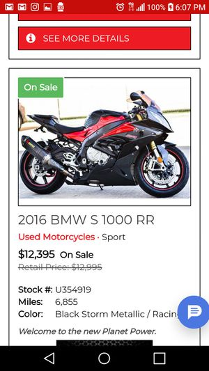 2016 BMW S1000RR Se habla Espanol for Sale in Houston, TX