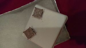 Real diamond silver earrings for Sale in Chicago, IL