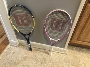 Wilson Youth tennis rackets for Sale in Thornwood, NY