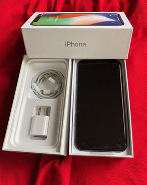 iPhone X factory unlock Silver 64gb Like New for Sale in Glenview, IL