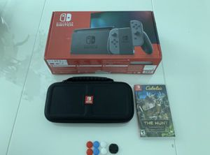 Nintendo Switch Console with Gray Joy-Con (V2) + Extras for Sale in Miami, FL