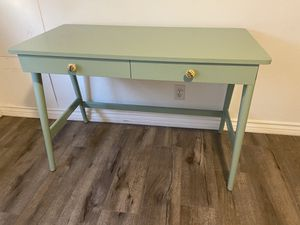 Sea green writing desk for Sale in Los Angeles, CA