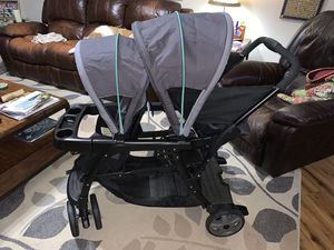 Graco Ready2Grow LX Double Stroller | Lightweight Double Stroller for Sale in DeSoto, TX