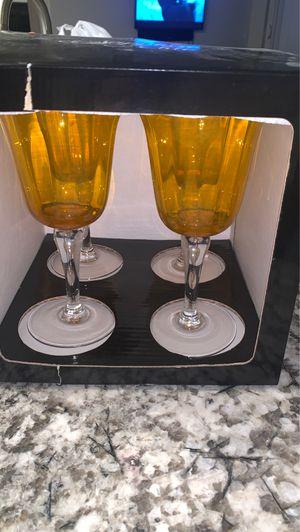 Wine glasses 4 count for Sale in Phoenix, AZ