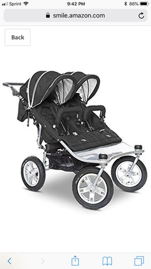 Double stroller black w/ 3rd seat option for Sale in Gaithersburg, MD