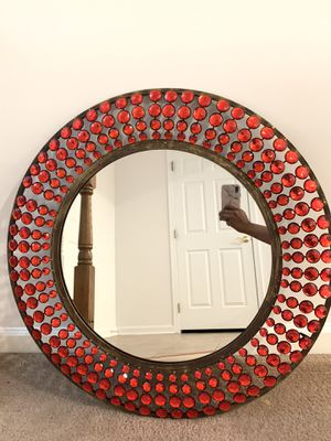 Statement Red Crystal Mirror for Sale in Ashburn, VA