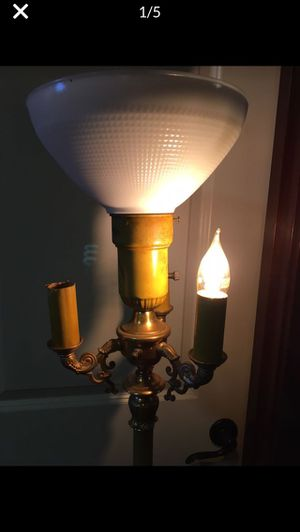Antique 1920's standing Lamp glass shade for Sale in Bothell, WA