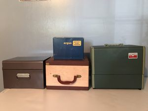 Vintage Argus 300 Automatic Slide Projector with Accessories and Slides for Sale in Chantilly, VA