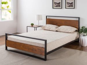 Zinus Suzanne metal and wood platform bed framewith headboard - Twin for Sale in Cincinnati, OH