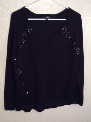 Like New Black Women's ANA Long Sleeve Sweater Top Tunic in package - size M for Sale in Austin, TX
