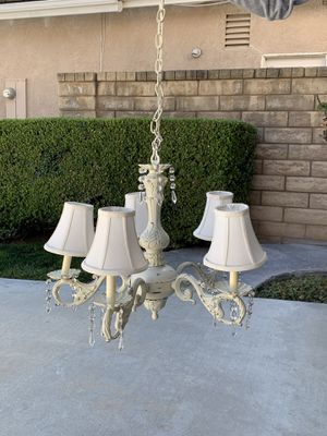 Chandelier and ceiling medallion for Sale in Santa Clarita, CA