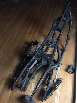 Honda motorcycle frame with front suspension and muffler and fender for good price $75 for Sale in Los Angeles, CA