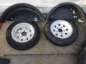 Trailer tires and fender for Sale in Murfreesboro, TN