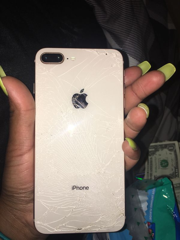 pretty nice c3a80 445c0 iPhone 8 Plus with sprint rose gold ( cracked back ) for Sale in New  Orleans, LA - OfferUp