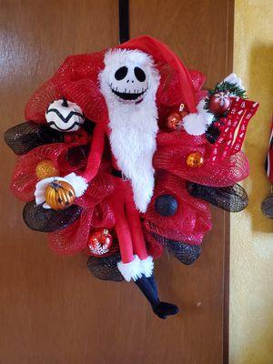 Nightmare before Christmas wreath for Sale in El Paso, TX