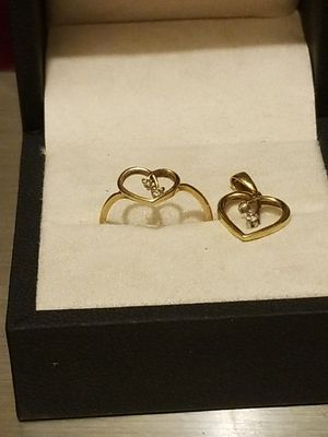 BEAUTIFUL HEART GOLD RING WITH MATCHING PENDANT for Sale in Springfield, VA