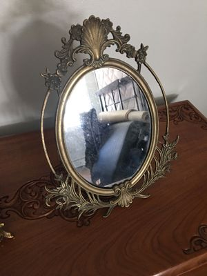 Antique brass mirror 14 inches tall 10 wide for Sale in Seattle, WA