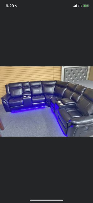 Brand New leather Sofa sectional recliner Set For $1549 financing available no credit check 40$ down for Sale in Brooklyn, NY