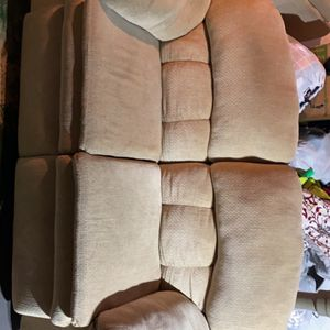 Sofa with pullout Bed And Reclining Love Seat for Sale in Lanham, MD