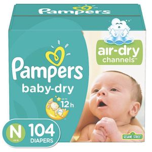 Pampers Baby Dry Diapers Super Pack Size Newborn - 104ct for Sale in El Monte, CA