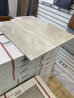 12x24 Quest Porcelain Ivory Polished Rectangle Floor and Wall Flooring Field Tile 15.5 sqft per box for Sale in Fairfax, VA