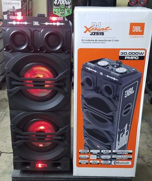 Brand New JBL Expert J2515 speaker. Connects two bluetooth at the same time. It has sound effects, and party lights. BRAND NEW in box never opened for Sale in Miami, FL